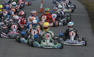 ben takes the lead karting
